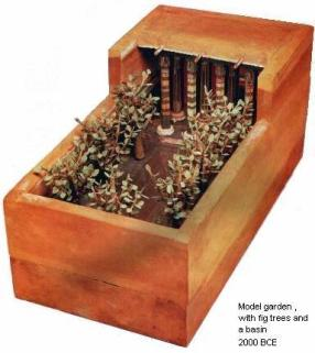 Model of a garden